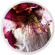 The Purple Lily. Round Beach Towel