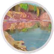 The Quarry Round Beach Towel