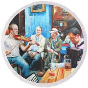 The Quay Players Round Beach Towel