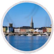The Quays, Wexford, County Wexford Round Beach Towel