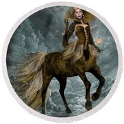 The Queen Horse Round Beach Towel
