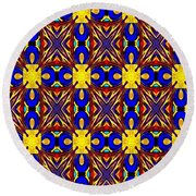 The Quilting Party Round Beach Towel