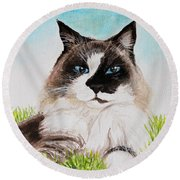 The Ragdoll Round Beach Towel