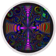 The Rainbow Spirit Round Beach Towel