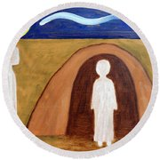 The Raising Of Lazarus Round Beach Towel by Patrick J Murphy