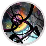 The Randomness Of It All Abstract Round Beach Towel