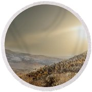 The Range, White Mountains  Round Beach Towel