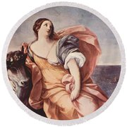 The Rape Of Europa 1639 Round Beach Towel