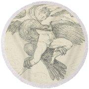The Rape Of Ganymede Round Beach Towel