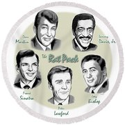 The Rat Pack Round Beach Towel by Greg Joens