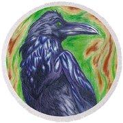 The Raven  Round Beach Towel