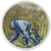 The Reaper After Millet Saint Remy De Provence, September 1889 Vincent Van Gogh 1853  1890 Round Beach Towel