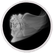 The Reaper Rides Again Round Beach Towel