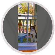 The Rear Window Round Beach Towel