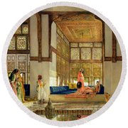 The Reception Round Beach Towel by John Frederick Lewis