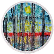 The Red Dock Round Beach Towel