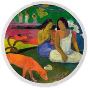 The Red Dog Round Beach Towel
