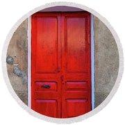 The Red Door. Round Beach Towel