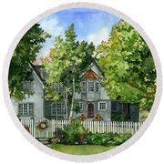 The Red Door Round Beach Towel