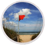 The Red Flag Round Beach Towel
