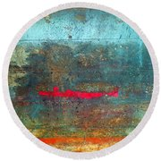 The Red Line Round Beach Towel