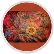 The Red Sirocco Round Beach Towel