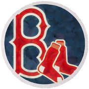 The Red Sox Round Beach Towel