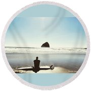 The Resting Surfer Round Beach Towel