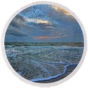 The Restless Sea Round Beach Towel
