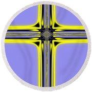 The Resurrection Cross Fractal 62 Round Beach Towel
