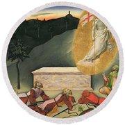 The Resurrection Round Beach Towel