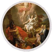 The Resurrection Of Christ Round Beach Towel by Noel Coypel