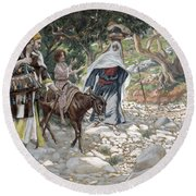 The Return From Egypt Round Beach Towel by Tissot
