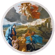 The Return Of The Holy Family From Egypt Round Beach Towel