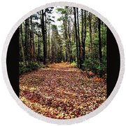 The Richness Of Autumn Treasures Round Beach Towel