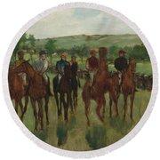 The Riders, 1885 Round Beach Towel