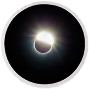 The Ring Of 2017 Solar Eclipse Round Beach Towel
