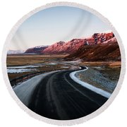 The Ring Road Round Beach Towel