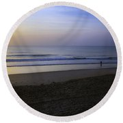 The Rising Sun Round Beach Towel