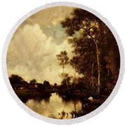 The River Round Beach Towel