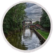 The River Foss Meets The River Ouse Round Beach Towel