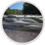 The River - Furnace Falls - Burnt River Round Beach Towel
