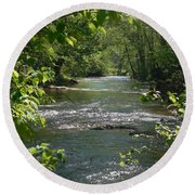 The River In Spring Round Beach Towel