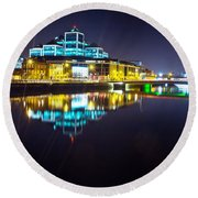 The River Liffey Night Romance 2 Round Beach Towel
