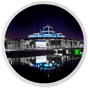 The River Liffey Reflections 2 V2 Round Beach Towel