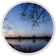 The River Nogat Round Beach Towel