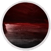 The River Runs Red Round Beach Towel