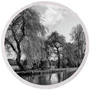 The River Wey,guildford, Surrey,england  Round Beach Towel