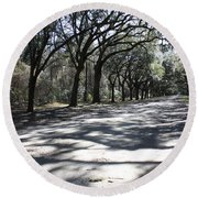 The Road Home Round Beach Towel