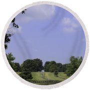 The Road To Lynchburg From Appomattox Virginia Round Beach Towel
